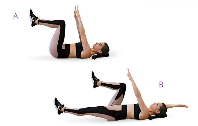 exercices abdominaux insecte sur le dos